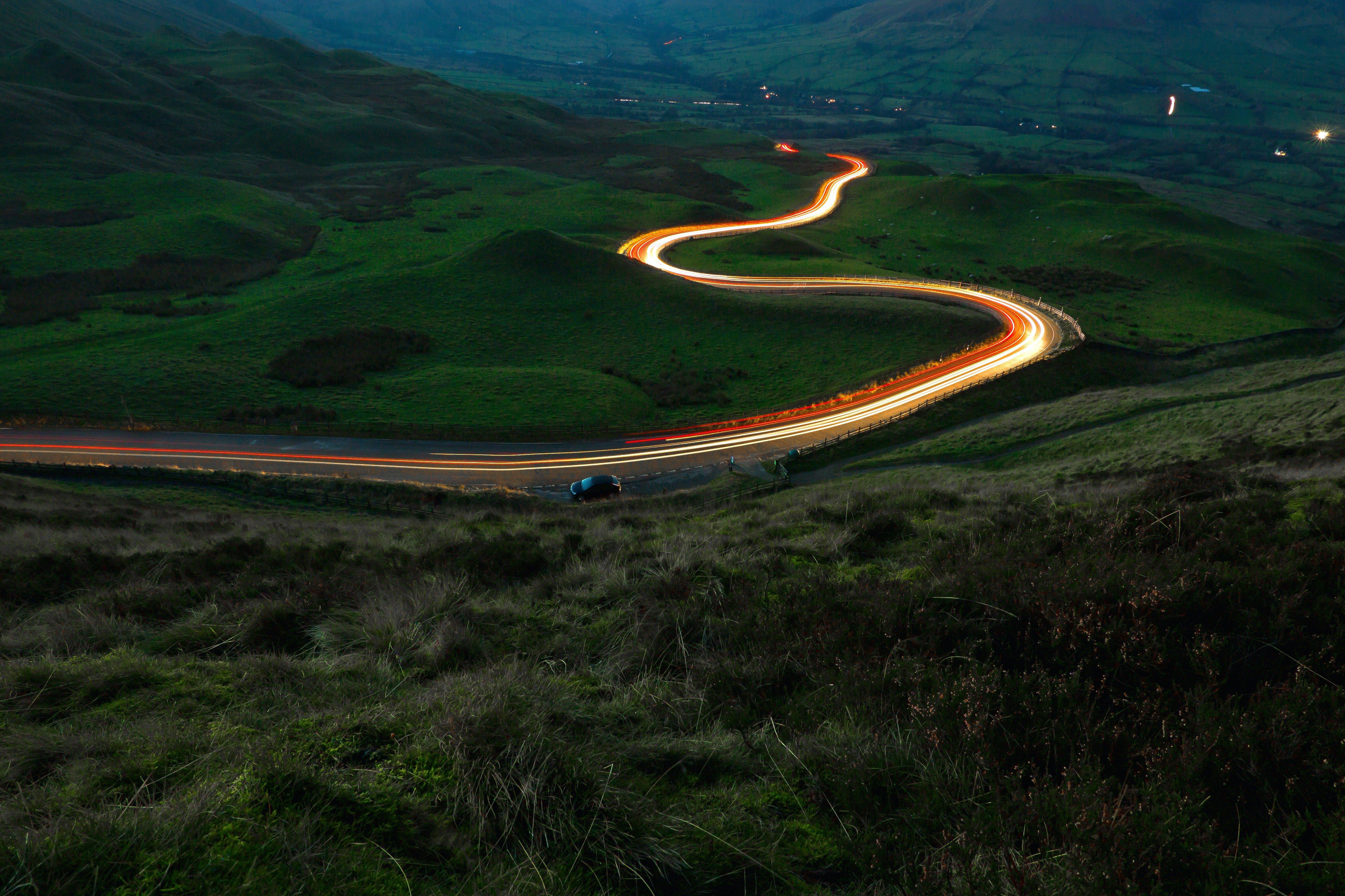 leuchtende Straße